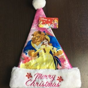 NWT Girls Beauty and the Beast Santa Hat